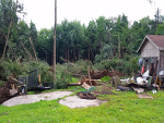 Trailer and tree damage near Parksville, NY
