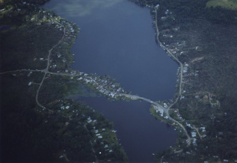 Aerial photo of the Lake Carey, PA area.