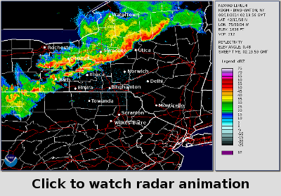 Click to watch radar animation from our YouTube channel.