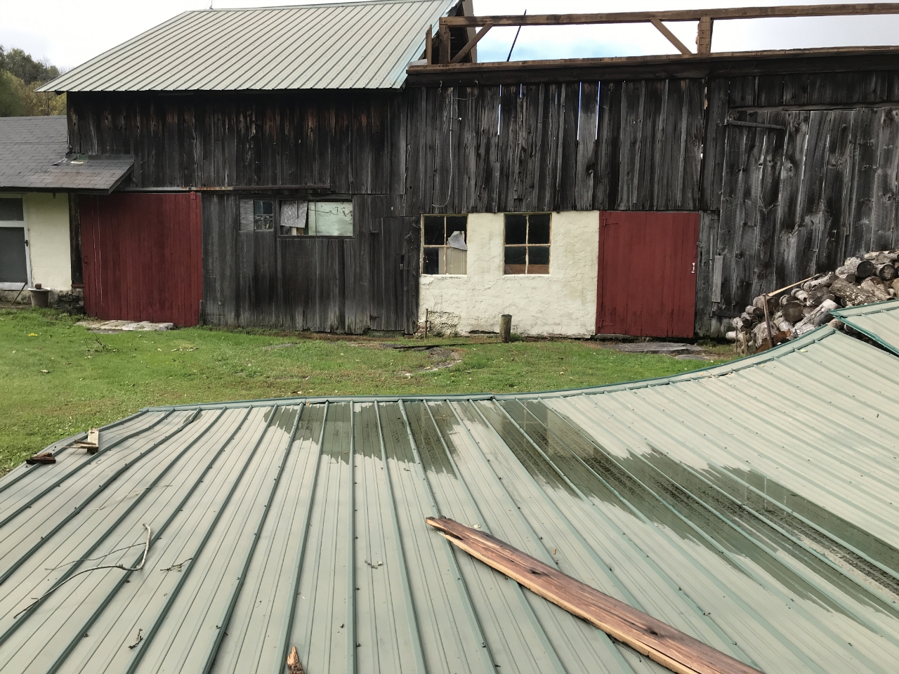 roof off barn