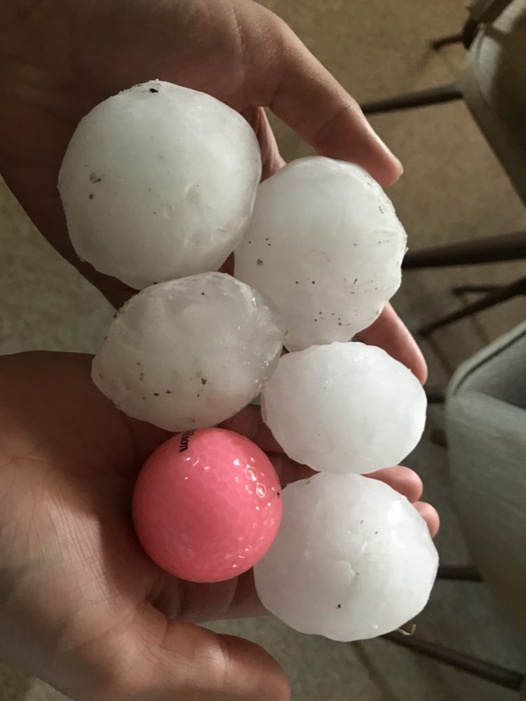 Hail West of Williston - 7/9/2018