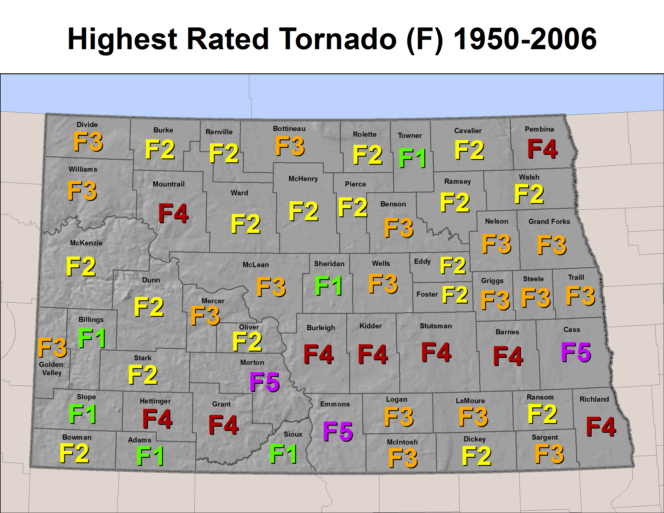 North Dakota Severe Weather History - Us zip code north dakota