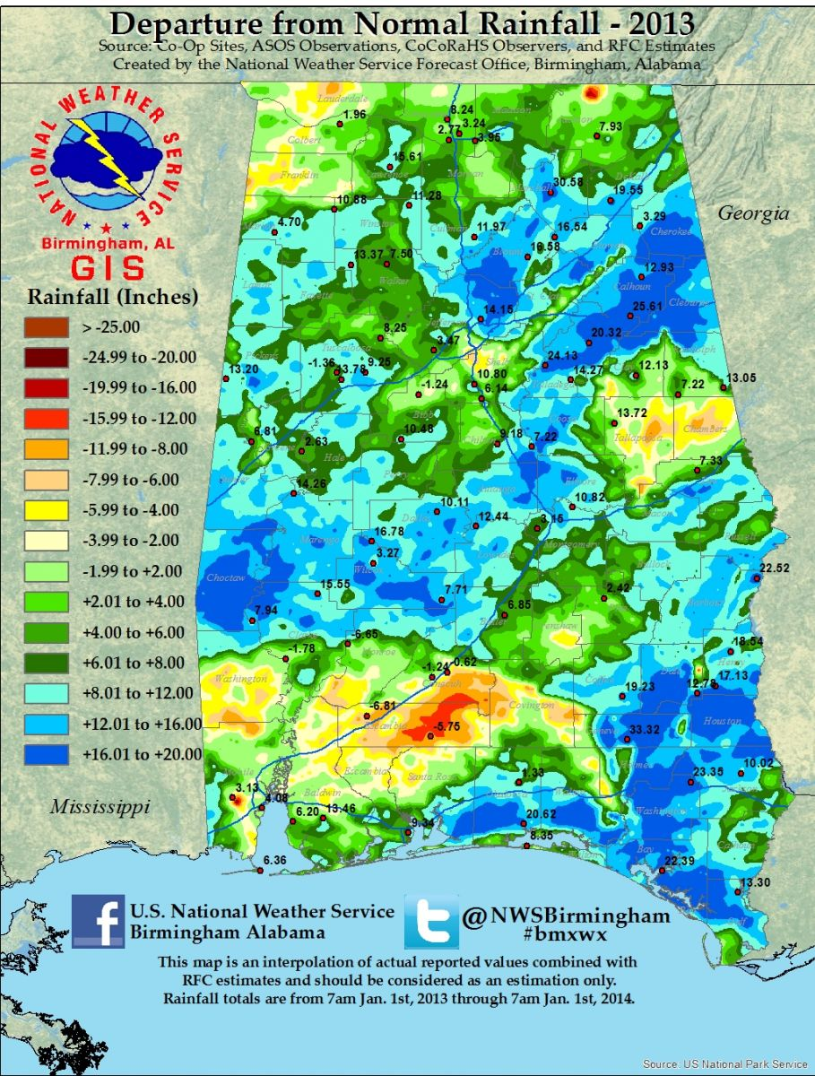 2013 Rainfall Departures Available Soon