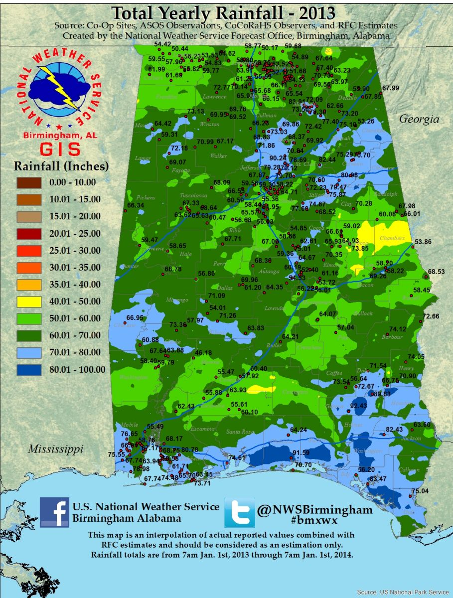 2013 Rainfall Totals Available Soon