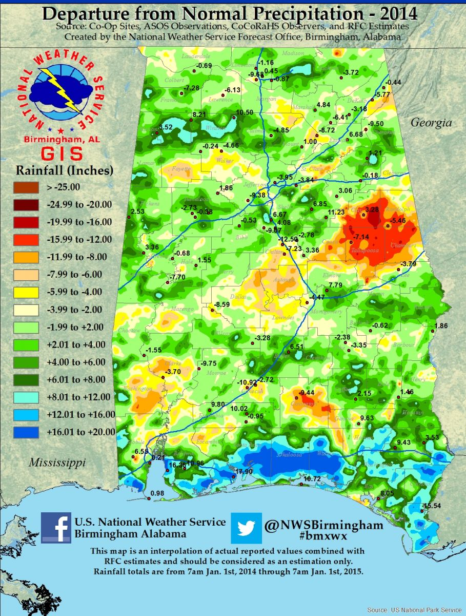 2014 Rainfall Departures Available Soon