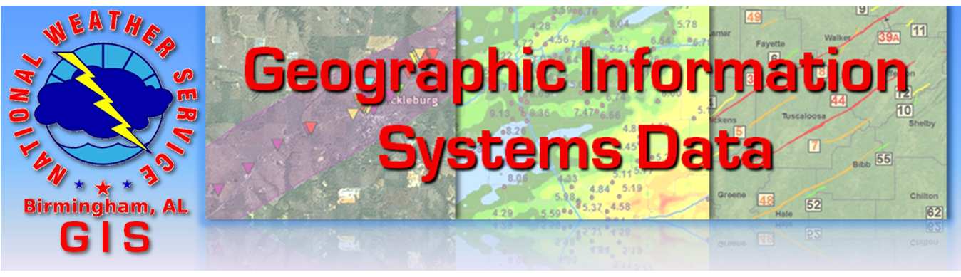 NWS Birmingham Geographic Information Systems Data