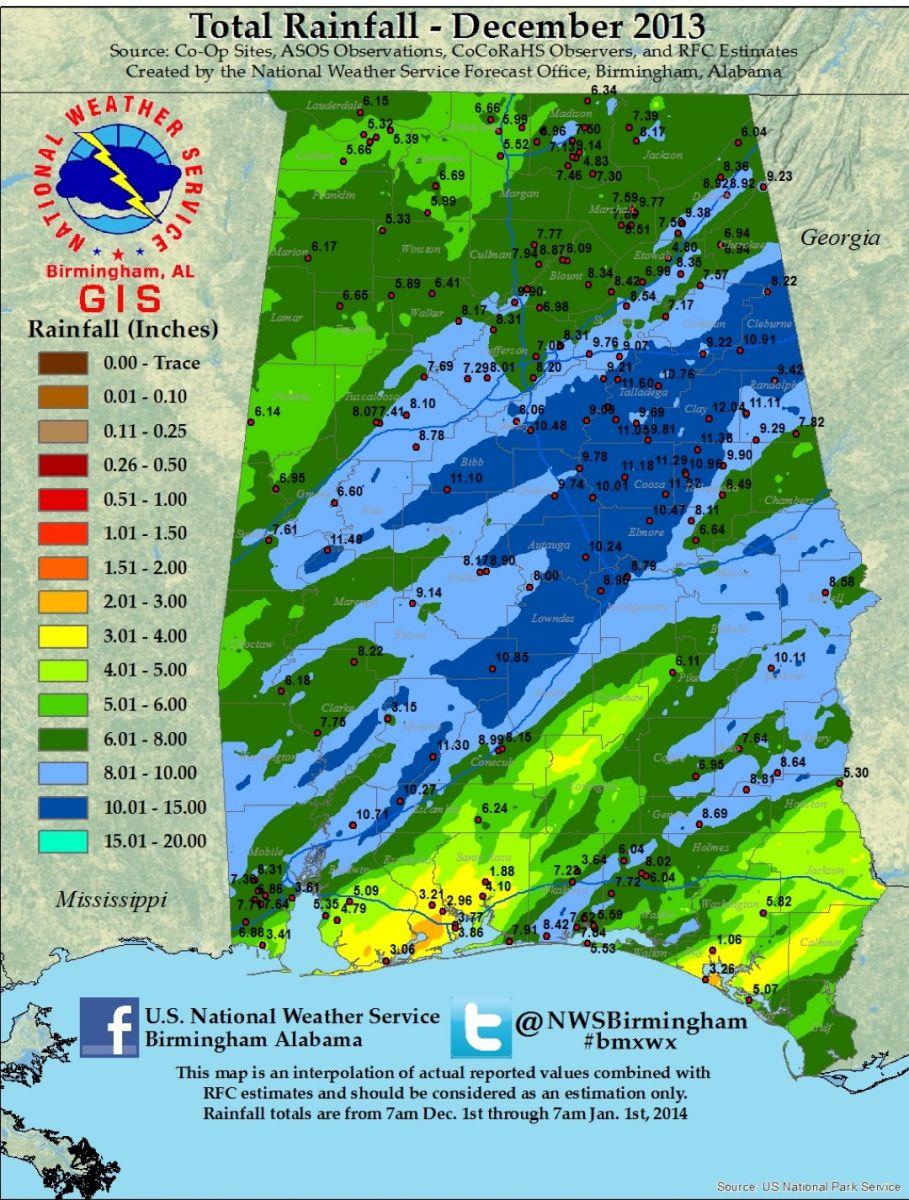December Rainfall Available Soon