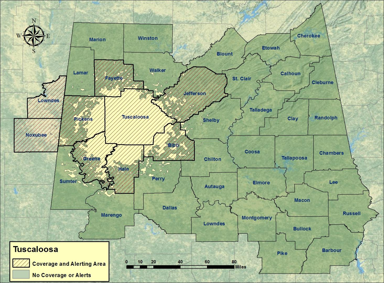 Tuscaloosa Al Zip Code Map.Tuscaloosa Noaa Weather Radio