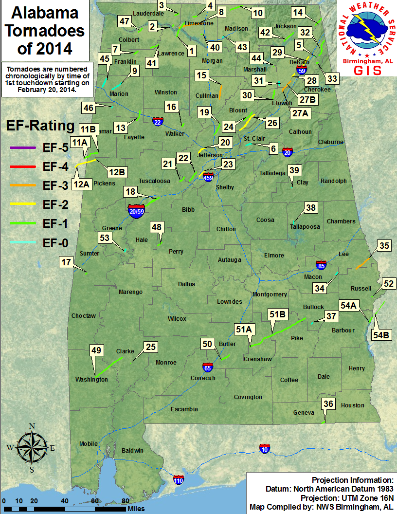 Statewide Tornado GIS Map Available Soon
