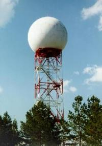 radar tower and dome