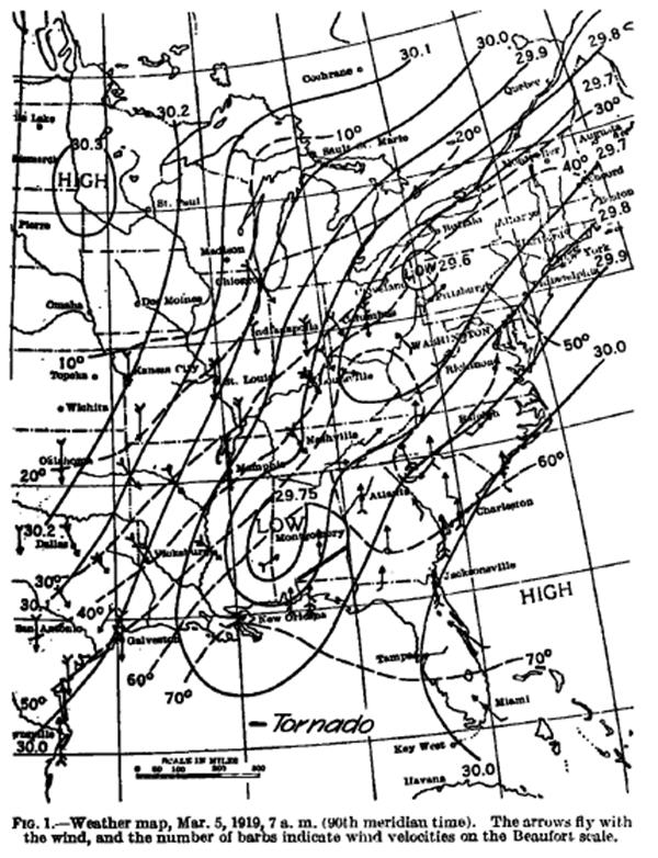 March 1919 Weather Map