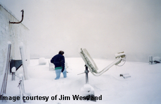 snowfall at old NWS office