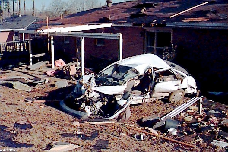 Car and house damage
