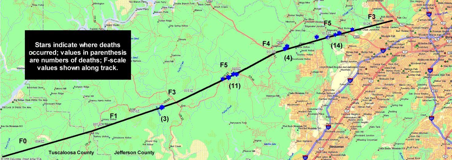 The Tornado Track Map Of Tornado Track
