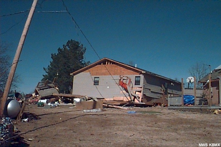 House damaged in Lauderdale County.