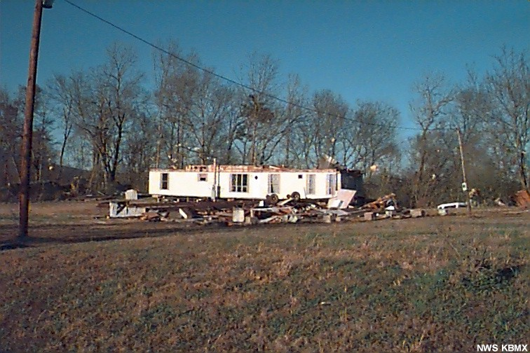 Tailers damage in Blount county.