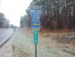 ice on street signs in cleburne county