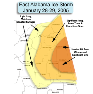 map of ice storm impacts, click for larger version