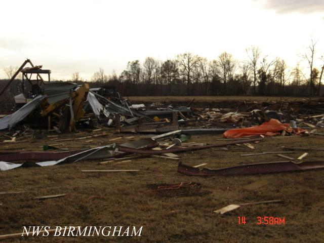 Barbour County F1 Tornado - January 13, 2006