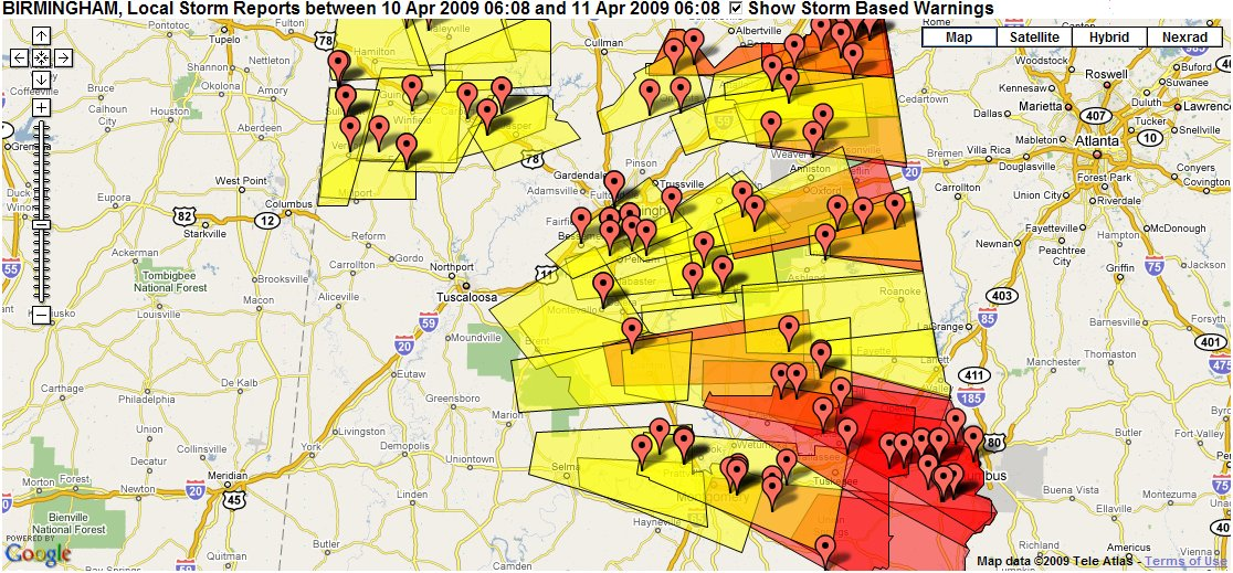 Central Alabama Severe Weather Reports