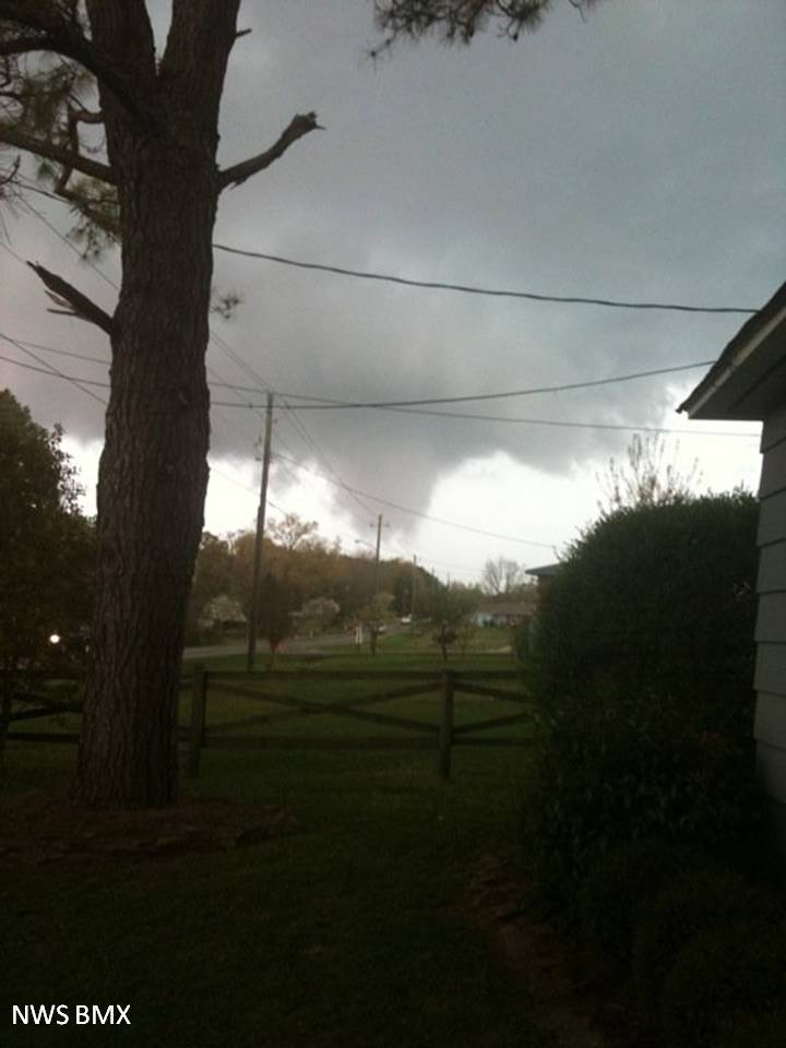 Funnel cloud in Shelby county