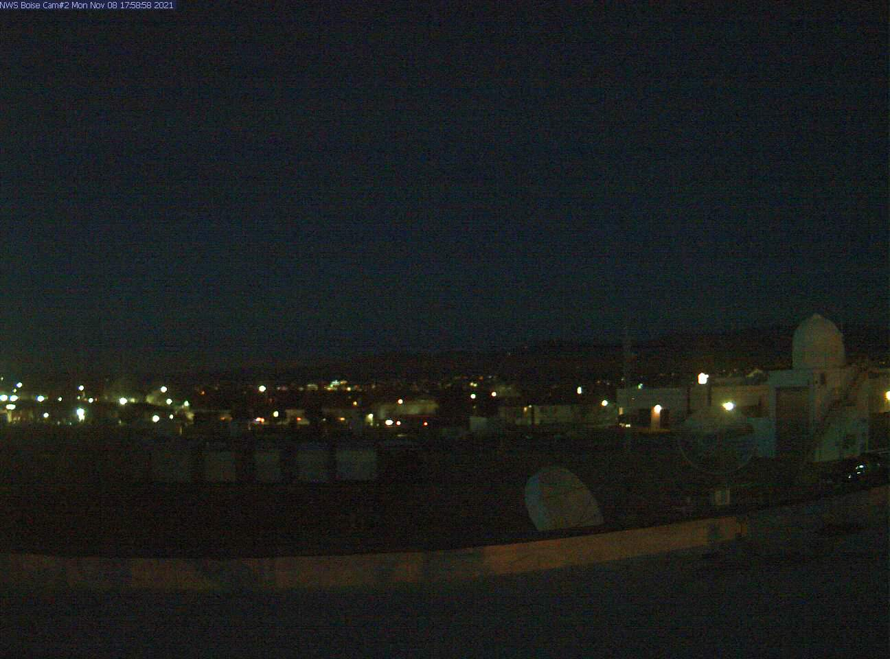 Picture of Boise web cam looking NNE