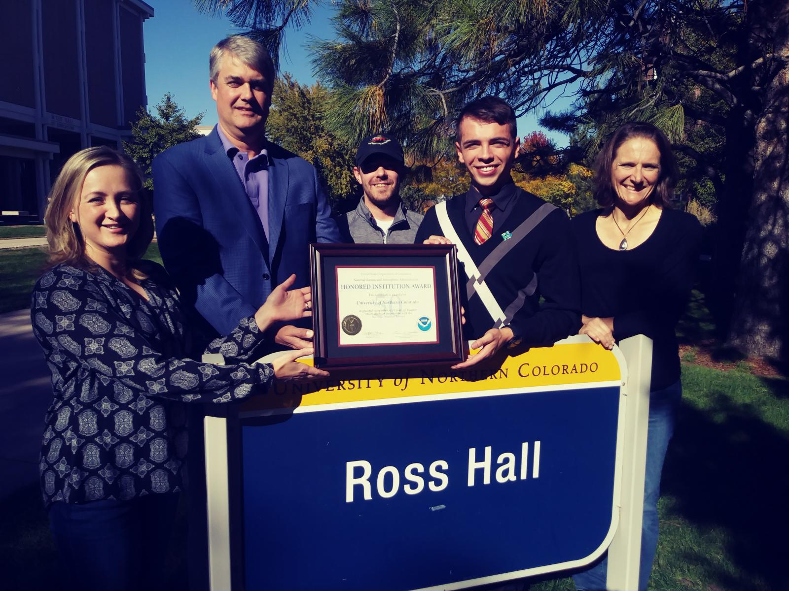 UNC Greeley receives its Honored Institution Award for 50 Years of Service