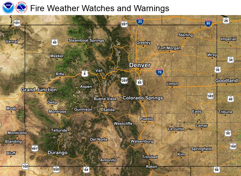 Eastern Colorado Fire Weather Hazards