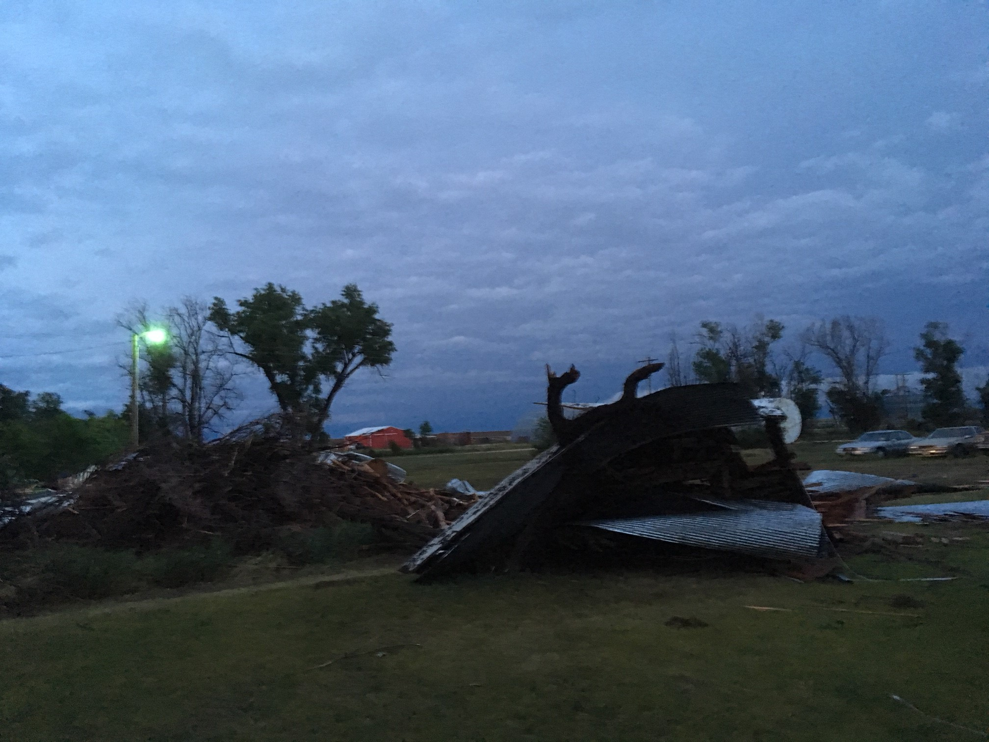 Damage in Cope from a microburst