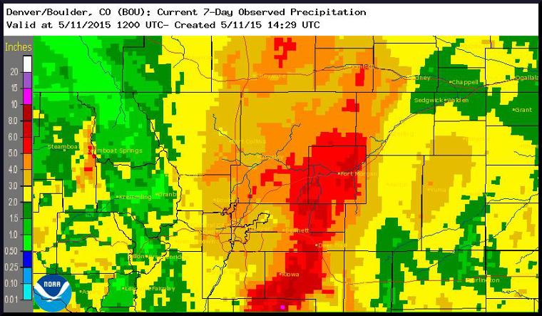 NE Colorado Spring Storm Precip/Snowfall Totals (May 1 thru