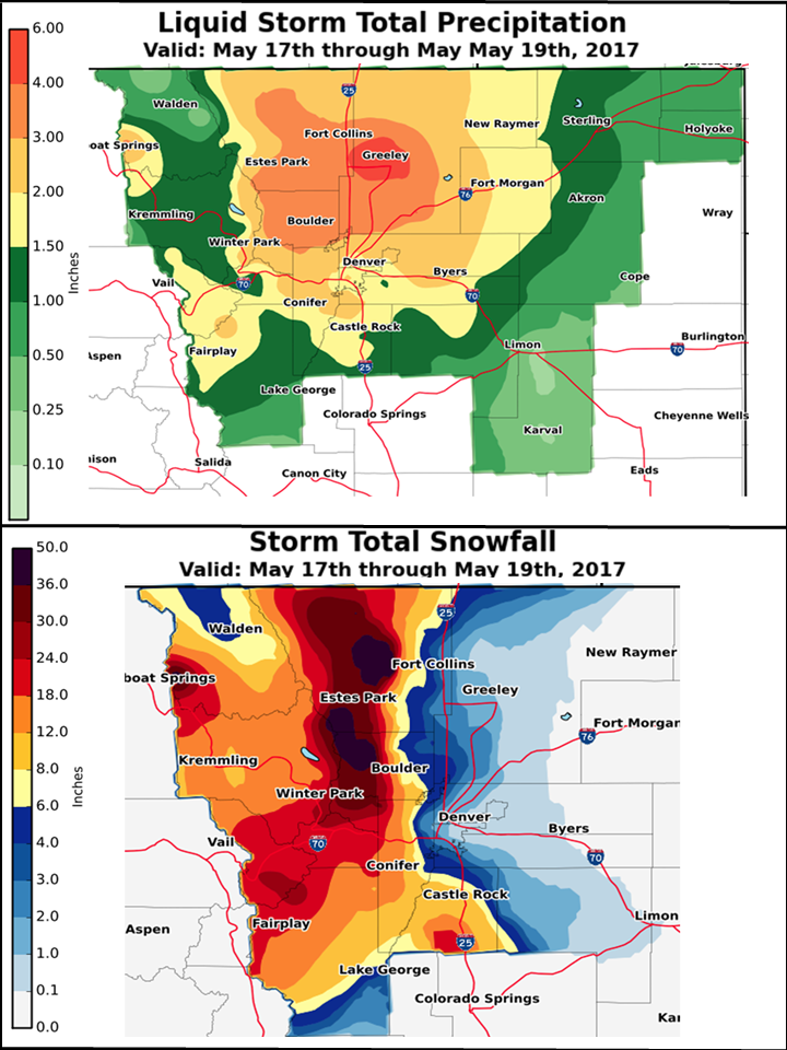 May 17-19, 2017 Spring Storm Wrap-up for Northeast and North Central on