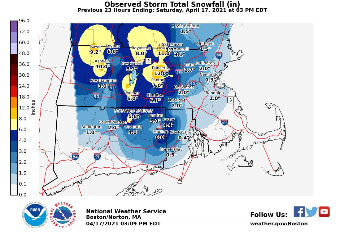Image of Stotm Total Snowfall