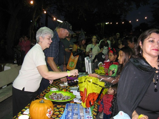 NWS Staff handing out candy and NWS information at Boo at the Zoo, Brownsville, TX