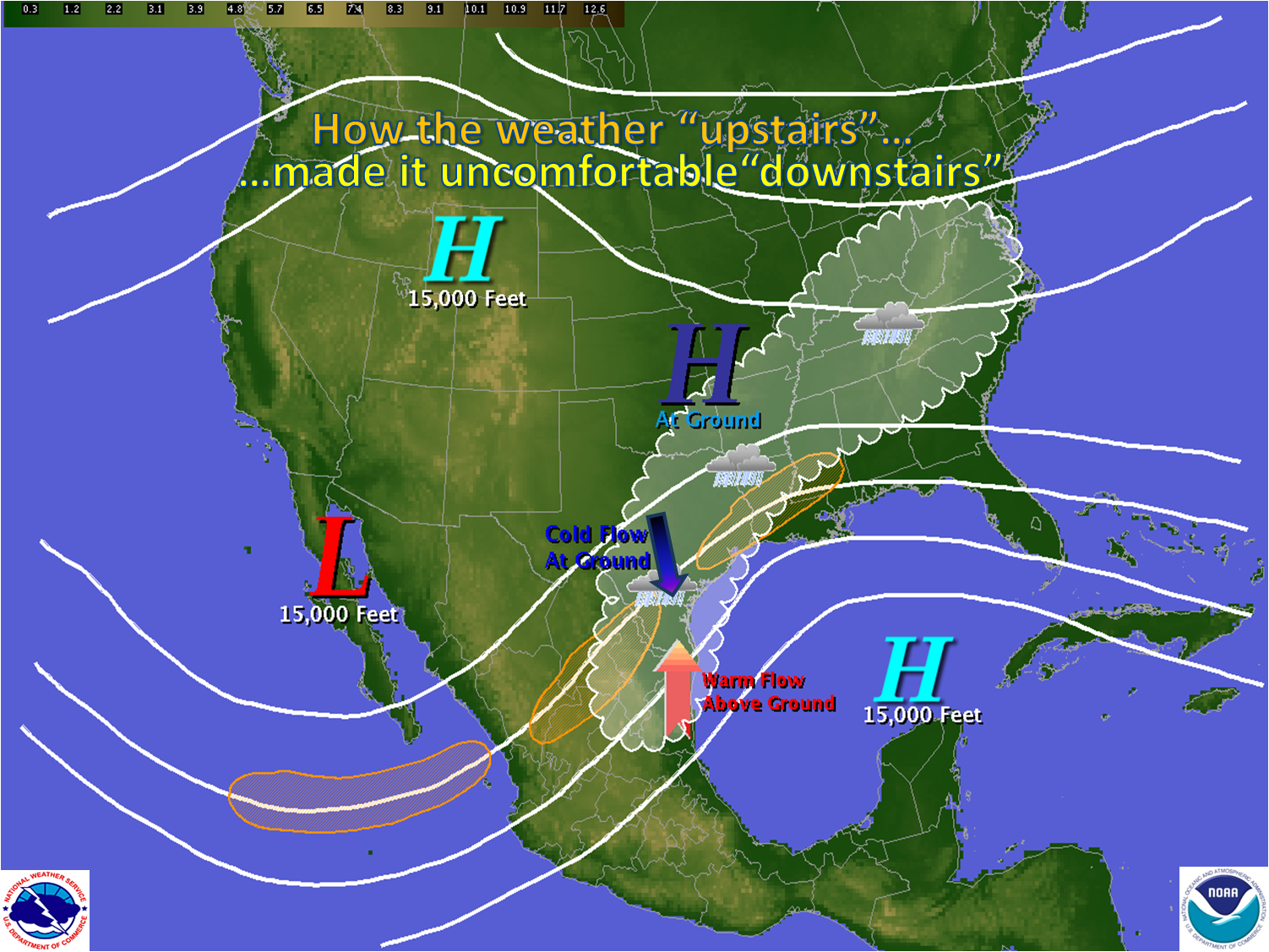 NWS Brownsville Staffs The RGV Wing Of Commemorative Air Force Air - Us weather map barometric pressure