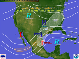General upper level atmospheric pattern, North America, for March 12 through 15, 2009 (Click for larger image)
