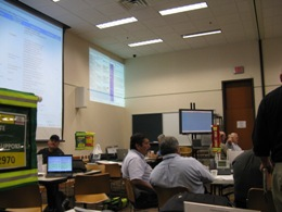 Photo of the City of Brownsville's Emergency Operations Center as part of the 2009 HUREX hurricane exercise (Click for larger image)