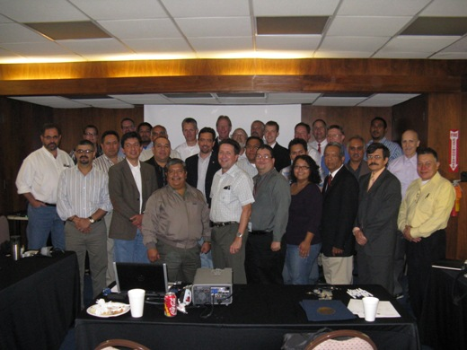 Group of 30 participants from Governmental Weather and Water Services in Mexico and the United States, November 10th 2010 (click for larger photo)