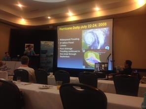 NWS Brownsville/Rio Grande Valley Warning Coordiation Meteorologist Barry Goldsmith describes Hurricanes Beulah, Dolly and Alex at the National Tropical Weather Conference in 2014