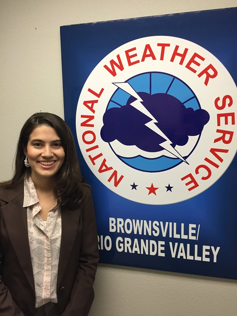NWS Brownsville/Rio Grande Valley Forecaster Maria Torres received NOAA Employee of the Month Certificate for January 2015