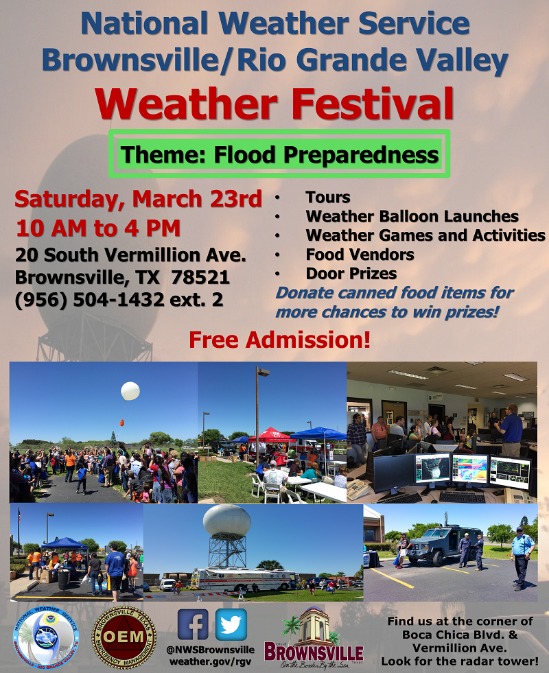 2019 Brownsville/Rio Grande Weather Festival Poster