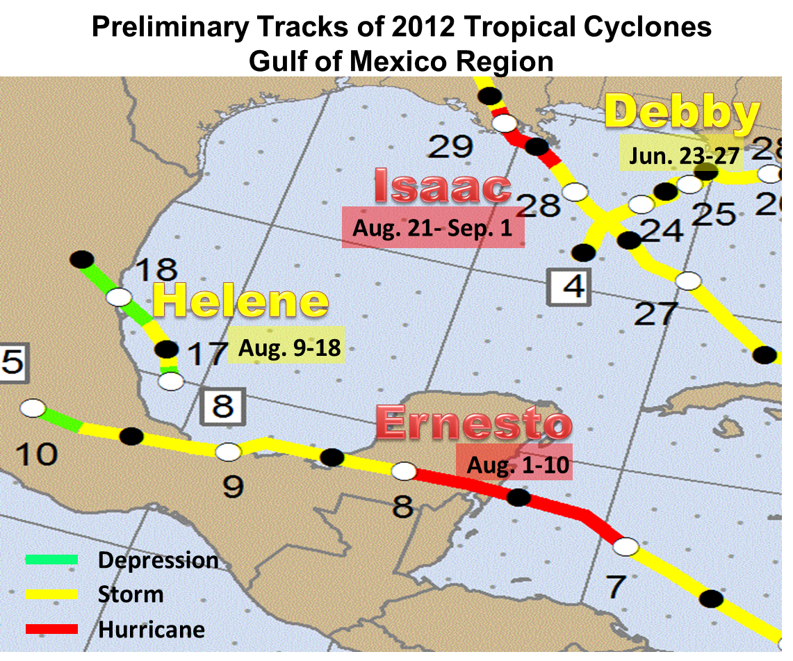 Quick Review Of The 2012 Atlantic Hurricane Season For The