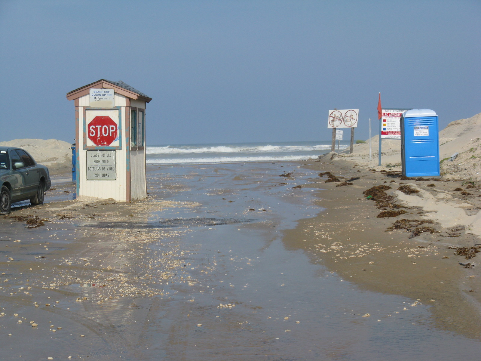 Surfs up way up as gustav swells ride into south padre island on photo of water easing through south padre island beach access 6 just prior to high nvjuhfo Choice Image