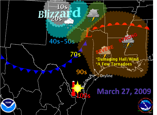 Texas Weather Map Forecast.Spring In Texas Blizzard In The Panhandle Hot Winds In The Rio
