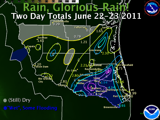 At Last Drenching Rains Fall In The Rio Grande Valley