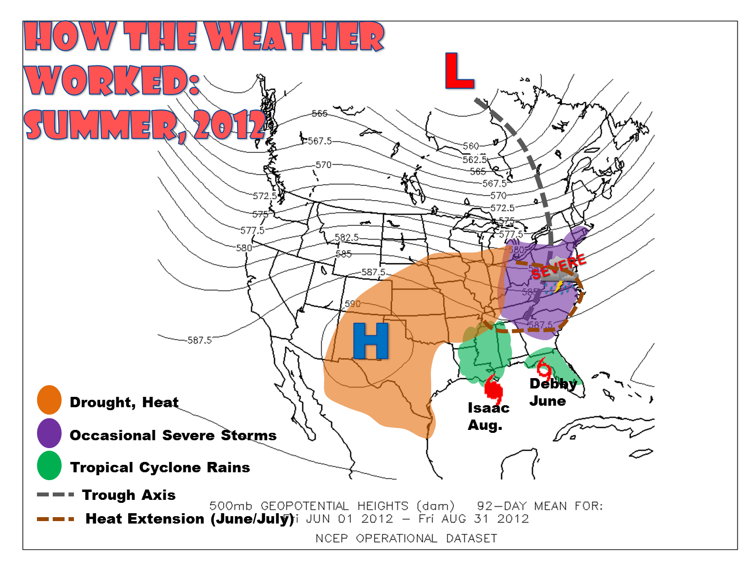 Different Year Similar Result Summer Ends Up Top Five - Map of weather patterns in the us