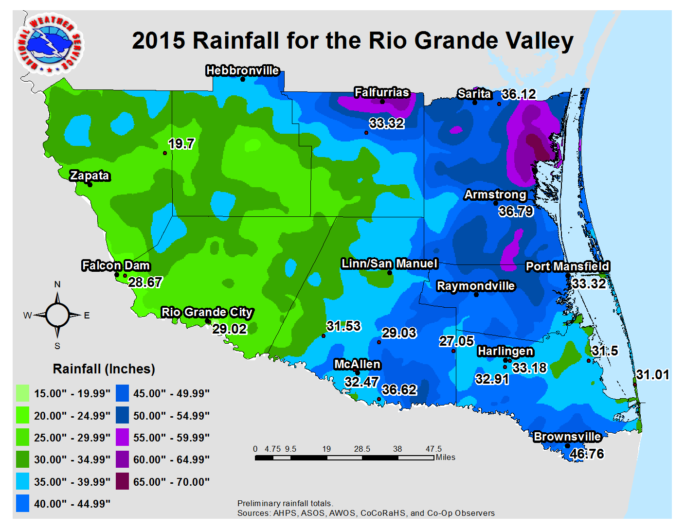 2015 Weather Event And Climate Summary For The Rio Grande