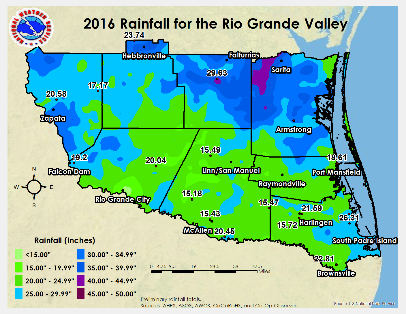 2016 Weather Event And Climate Summary For The Rio Grande