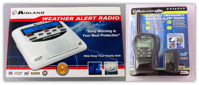 Midland Radio NOAA Weather Radio Receivers