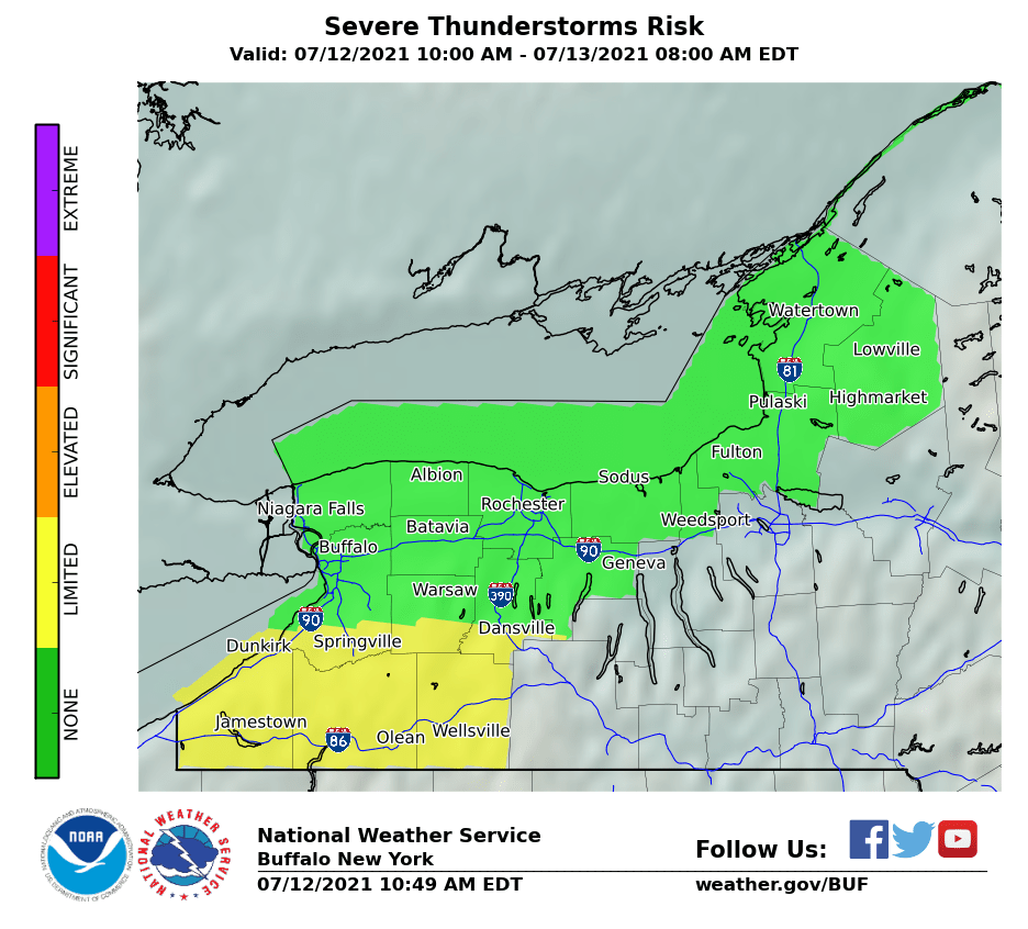 WNY Thunderstorm Risk  In New Tab