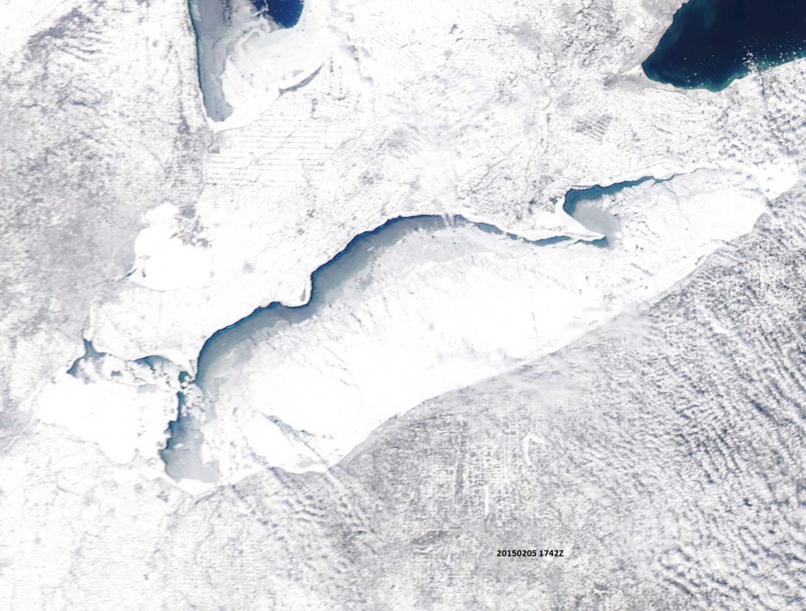 eastern great lakes ice cover
